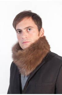 Sable fur neck warmer - unisex