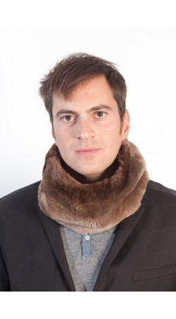 Beaver fur neck warmer - unisex