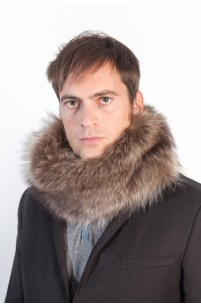 Raccoon fur neck warmer - unisex