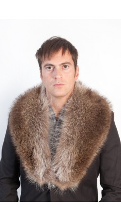 Raccoon fur collar - unisex