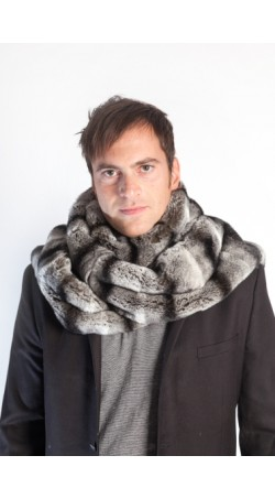 Rex Chinchilla Fur Stole - Unisex