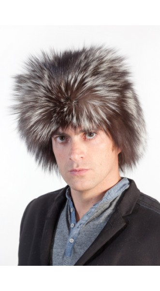 ee9dc081fc54cf Silver Fox Fur Hat Russian   Men's Fur Hats at Amifur E-Shop