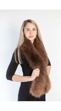 Brown fox fur scarf