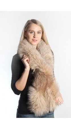Platinum  fox fur scarf - cream