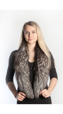 Silver fox fur scarf