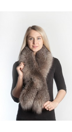 Crystal fox fur scarf