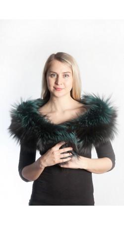 Green fox fur scarf
