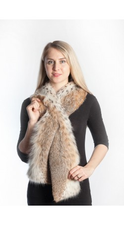 Lynx fur scarf - long