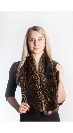 Spotted rex fur scarf