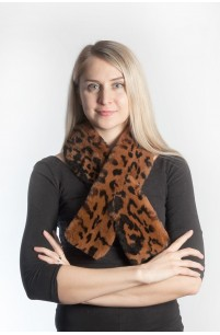 Possum fur scarf - spotted