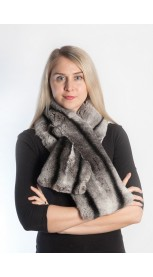 Rex Chinchilla fur scarf - Large