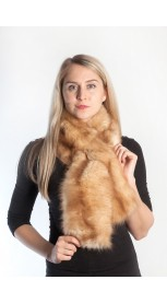 Golden sable fur scarf
