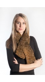 Golden karakul fur scarf