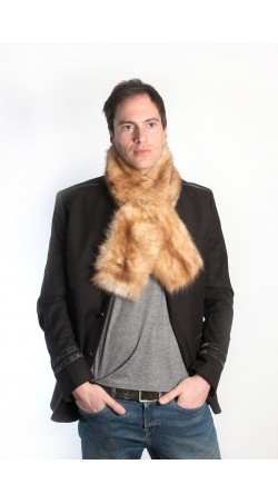 Golden sable fur scarf - unisex