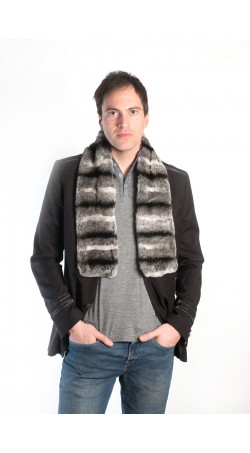 Rex Chinchilla fur scarf