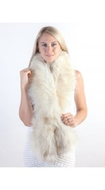 White - Cream fox fur scarf