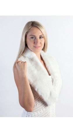 White rex fur collar