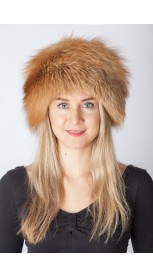 Red-Golden fox fur hat