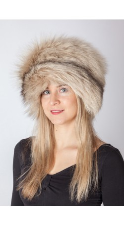 Arctic cream fox fur hat