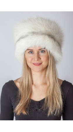 Arctic marble fox fur hat
