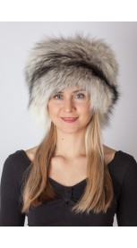 Shadow blue frost fur hat