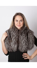 Silver fox fur collar – neck warmer