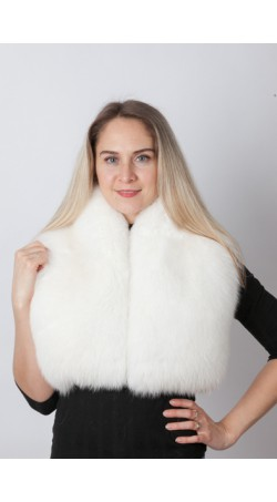White fox fur collar - neck warmer