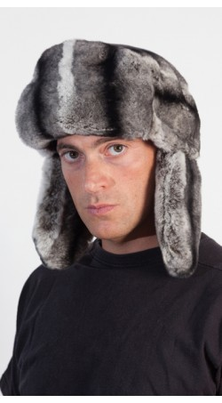 Rex Chinchilla Fur Hat for Men - Russian Style