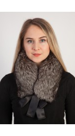 Silver fox fur collar - neck warmer
