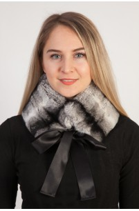 Rex Chinchilla fur collar - neck warmer