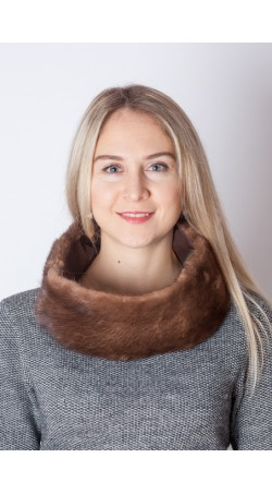 Mink fur neck warmer