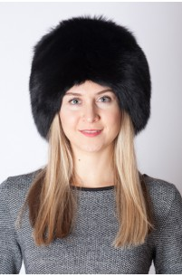 Black fox fur hat
