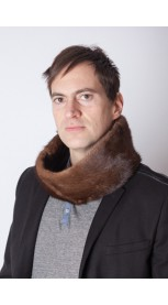 Mink fur neck warmer - unisex