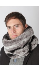Rex rabbit fur neck warmer – Horizontal effect