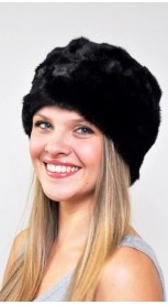 Mink fur hat - Created with black mink fur remnants