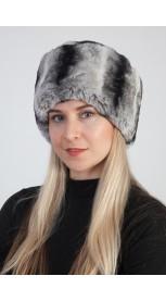 25c41ba6d Rex Chinchilla Fur Hat | Men's Real Fur Hats & Russian Fur Hats