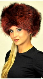 Red coonskin hat