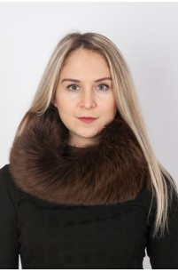 Brown fox fur neck warmer