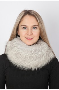 Arctic fox fur neck warmer