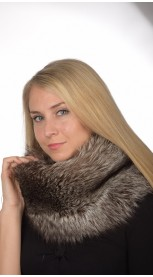 Silver Fox Fur Neck Warmer