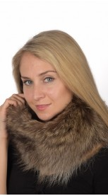 Raccoon Fur Neck Warmer - Large