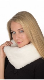 White Rex Fur Neck Warmer