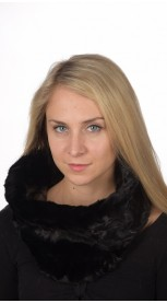 Black Mink Fur Neck Warmer