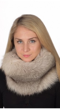 Grey Fox Fur Neck Warmer