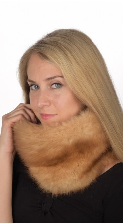 Gold Sable Fur Neck Warmer
