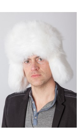 White fox fur hat – Russian style