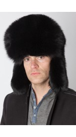 Black fox fur hat – Russian style