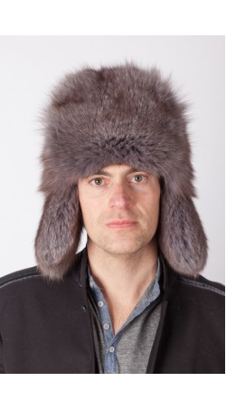 Arctic blue fox fur hat – Russian style