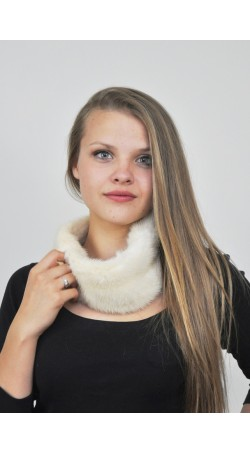Mink fur headband - white