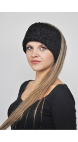 Karakul fur headband